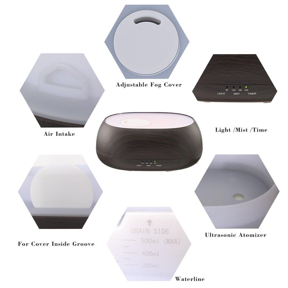 Ultrasonic Aroma Diffuser W/ IR Remote – 500ml